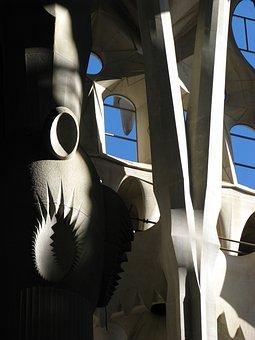 Barcelona, Spain, Sagrada Familia, Interior, Church
