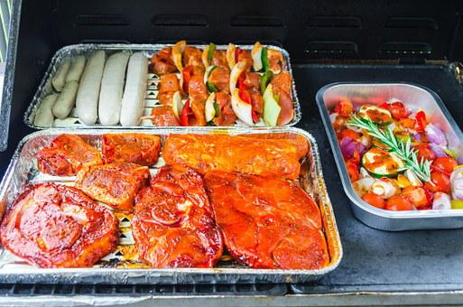 Grilled Meats, Steak, Sausage, Meat, Beef, Food, Grill