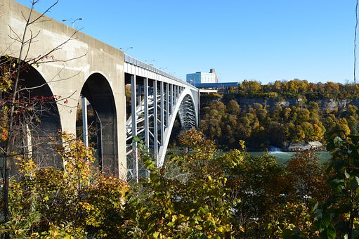 Bridge, Niagara Falls, Rainbow Bridge, Border