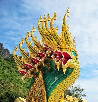 Dragon, Ancient Ancient Animals, Architecture, Buddha