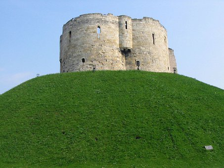 Clifford, Tower, Building, York, North, Yorkshire