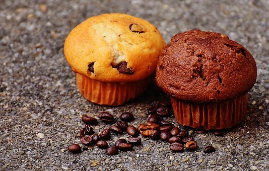 Muffin, Cake, Coffee, Coffee Beans, Delicious, Enjoy