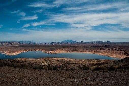 Lake Powell, Page, Arizona, Lake, Powell, Usa, Canyon