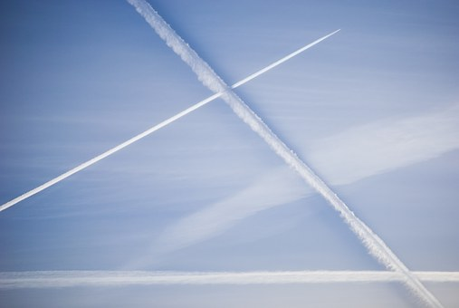 Condensation Trails, Contrails, Chemtrails, Geometry