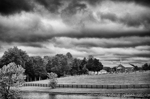Monochrome, Black And White, Country, Rural, Landscape