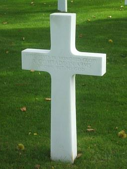 Cross, Falls, War, Normandy, American Cemetery, Soldier