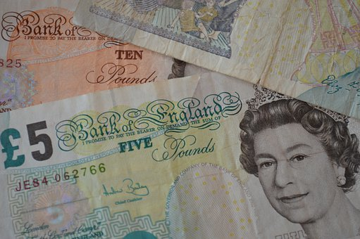 British Pounds, Banknotes, Bills, Currency, Paper Money