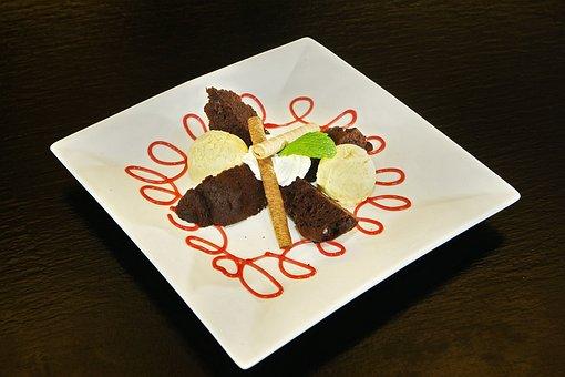 Dessert, Ice Cream, Chocolate Cake, Jelly