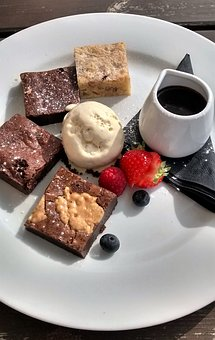 Dessert, Chocolate, Brownie, Cake, Summer, Sweet