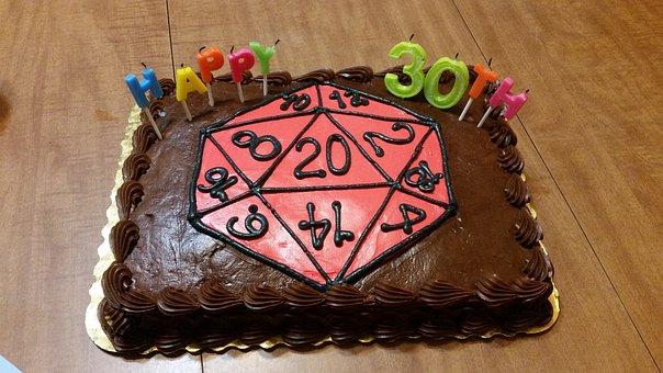 Cake, Nerd Cake, Rpg, Tabletop, Tabletop Games, Dice