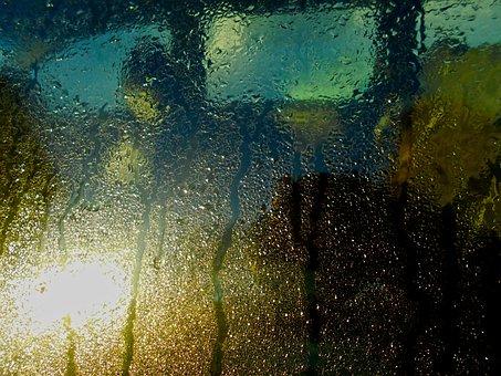 Car Window, Condensation, Drizzle