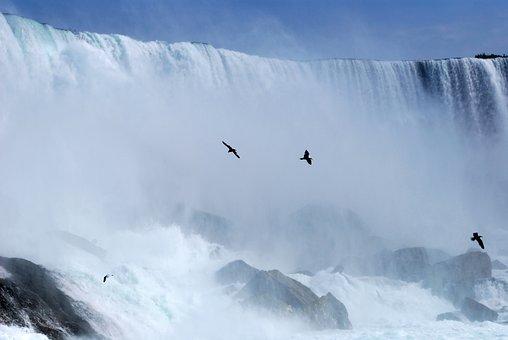 Niagara, Falls, Waterfall, Canada, Ontario, Mist, River