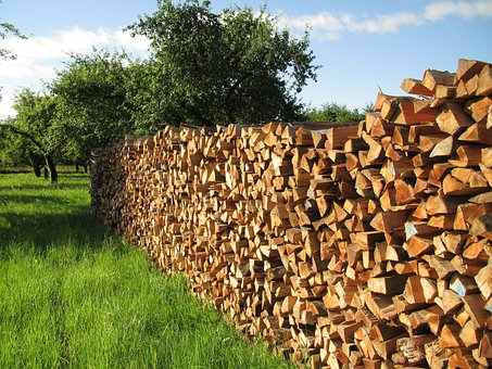 Tree Wood, Firewood, Wood, Batten, Stacked Up, Stacked