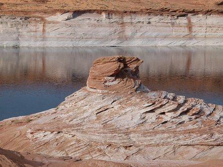 Red Rock, Formation, Reflection, Sandstone, Erosion Hot