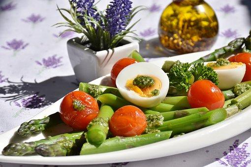 Asparagus, Green, Green Asparagus, Pesto