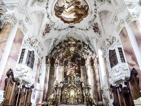 Church, Nesselwang, Inside, Interior, House Of Worship