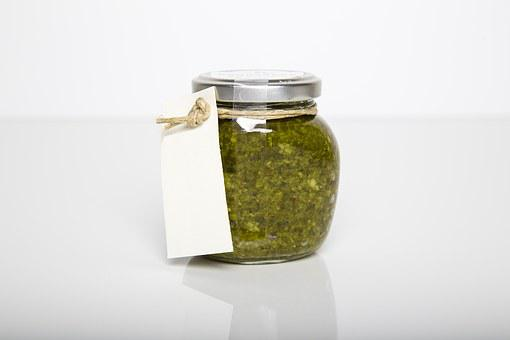 Pesto, Jar, Glass, Tag, Paper, Sell, Homemade, Quality