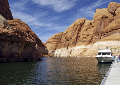 High, Rock, Near, Rainbow Bridge, Lake Powell, Arizona