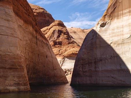 High, Rock, Near, Rainbow Bridge, Lake Powell, Arizona