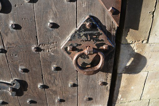 Oak Door, Knob, Handle, Latch, Oak, Wood, Wooden, Door