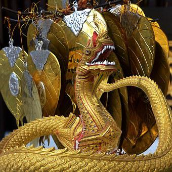 Dragon, Leaves, Gold, Spiritual, Leaf, Decoration