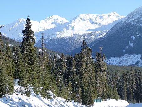 Lillooet, Snow Covered, Mountain, British Columbia