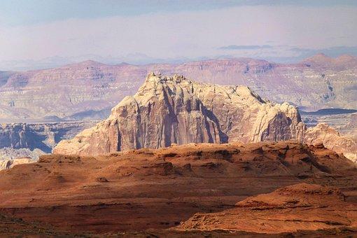 Red Rock, Sandstone, Erosion Hot, Dry, Massive
