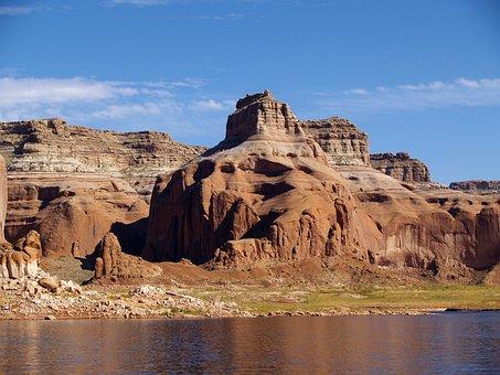 High, Rock, Near, Lake Powell, Arizona, Usa, Page