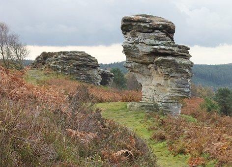Rocks, Moorland, North Yorkshire, Rock Formation