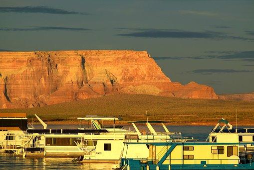 Lake Powell, Houseboat, Marina, Page, Arizona