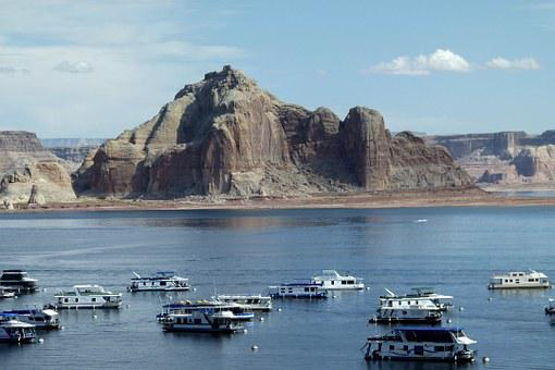 Lake Powell, Page, Arizona, Usa, Southwest, Landscape