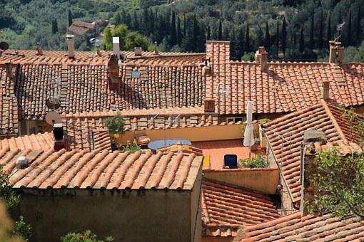 Roofs, Brick, Roofing, Roof, Red, Architecture