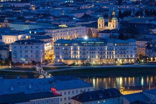 Salzburg, Austria, Mönchberg, Abendstimmung