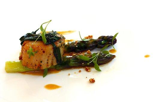 Asparagus, Food, Appetizer, Kitchen, Fish, Scallop