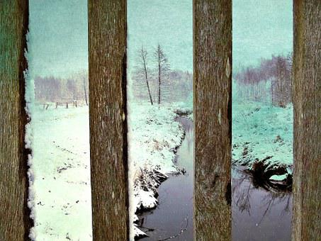 Snow, Winter, Bridge, Battens, By Looking, Trees