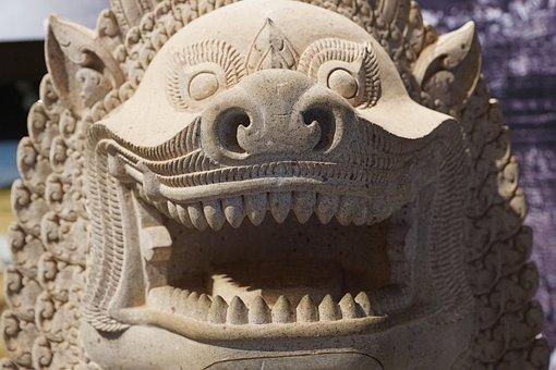 Dragons, Figure, Statue, Chinese, China, Japan