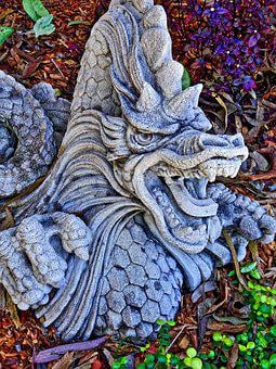 Dragon, Stone, Sculpture, Symbol, Chinese, Carving
