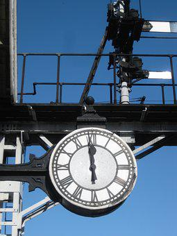 Clock, Yorkshire, Steam, North Yorkshire Moors, Time