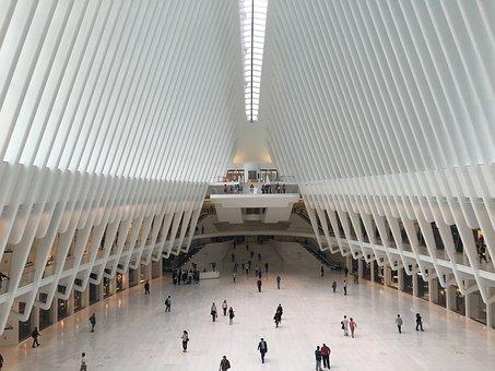 New York, Usa, World Trade Center, Station, Modern