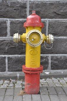 Fire, Hydrant, Water, Street, City, Emergency