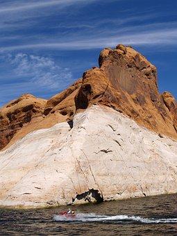 Lake Powell, Page, Arizona, Usa, Water, Reservoir, Red