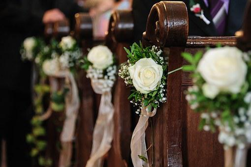 Floral Decorations, Church, Wedding, Marriage, Roses