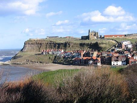 North Yorkshire, Whitby, Harbour, Abbey