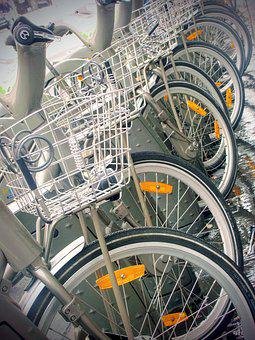 Bicycle, Bike, Paris, Fietsmandje, Shared Bike