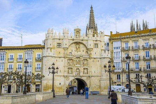 Burgos, Gate, Islam, Muslim, Spain, Architecture