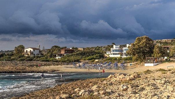 Beach, Sky, Clouds, Autumn, Landscape