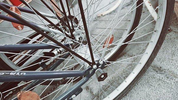 Bike, Spoke, Wheel, Rim, Cycling, Detail Photography