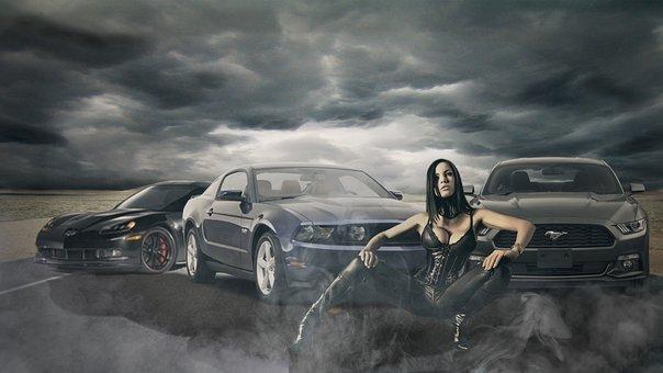 Cars, Models, Black, Vehicle, Fast, Sport, Devil, Car