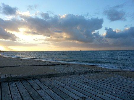 Dromana, Sunset, Bay, Cloudscape, Dusk, Coastline