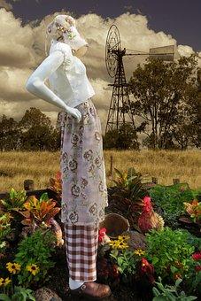 Gardening, Pioneer, Rural, Garden, Woman, Flowers